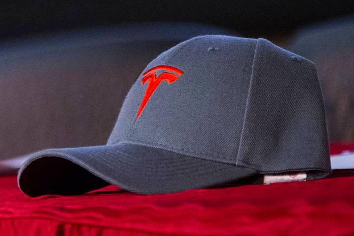 A Tesla ballcap (Las Vegas Review-Journal)