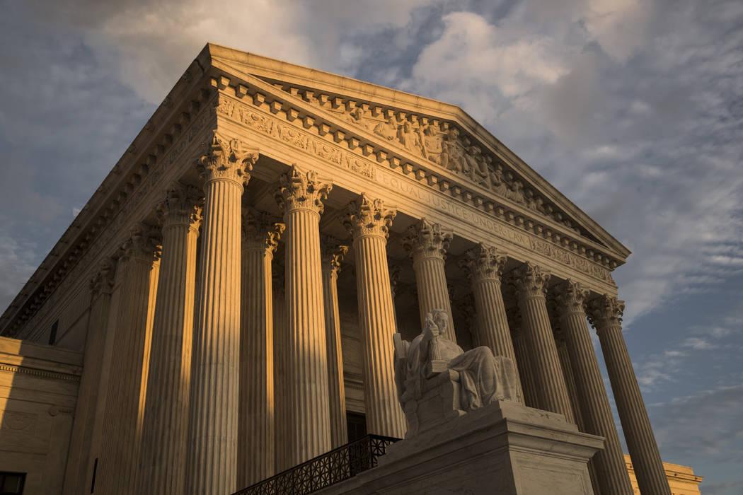 The Supreme Court in Washington, at sunset. (AP Photo/J. Scott Applewhite, File)