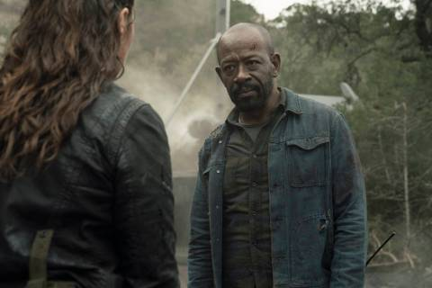 Alycia Debnam-Carey as Alicia Clark, Lennie James as Morgan Jones- Fear the Walking Dead ...