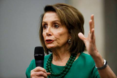 Speaker of the House Nancy Pelosi, D-Calif., speaks during a panel discussion May 24, 2019, at ...