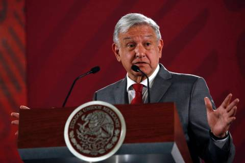 Mexico's President Andrés Manuel López Obrador says Mexico will not respond to U.S. P ...