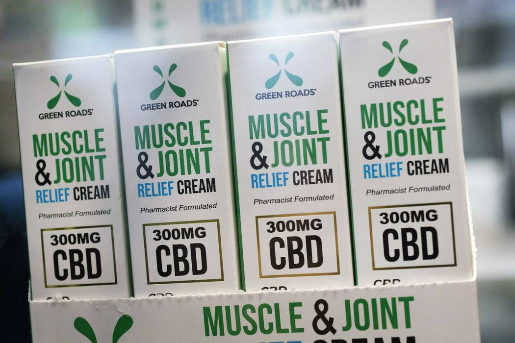 Muscle Joint & Relief Cream is displayed at the Cannabis World Congress & Business Expo ...