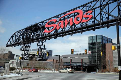 The Sands Casino Resort Bethlehem is seen in Bethlehem, Pa., in 2015. (AP Photo/Matt Rourke)