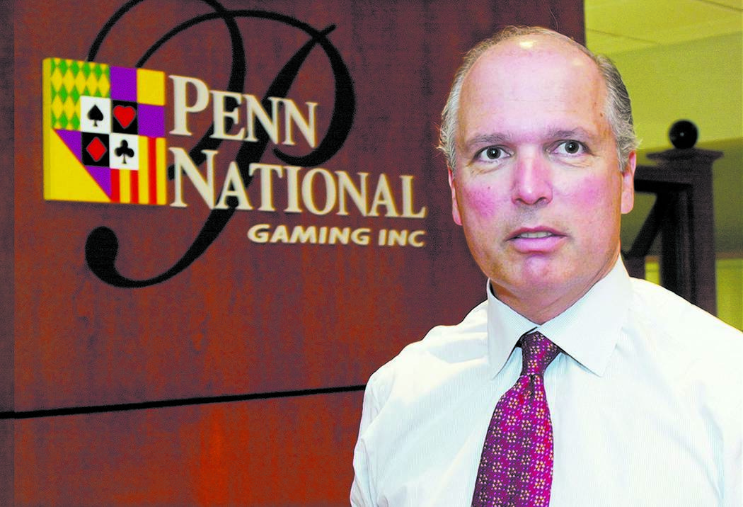 Peter Carlino, Chief Executive Officer of the Penn National Gaming Inc. company is shown at his ...