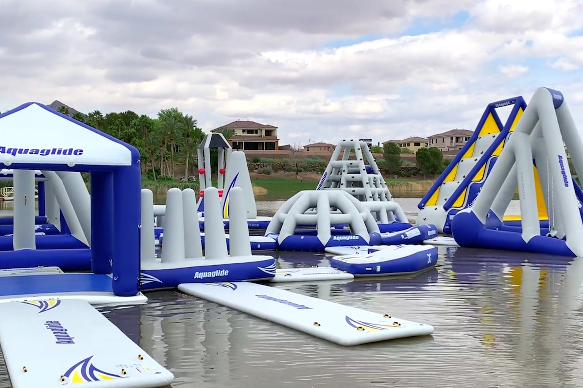 Lake Las Vegas Shows Off New Aqua Park Video Las Vegas