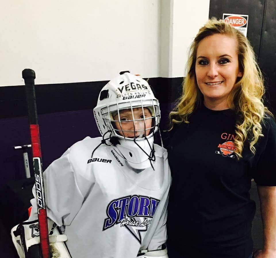 Gina and son Jake Kielb. Jake Kielb's Hockey Foundation is named for him. (Gina Kielb)