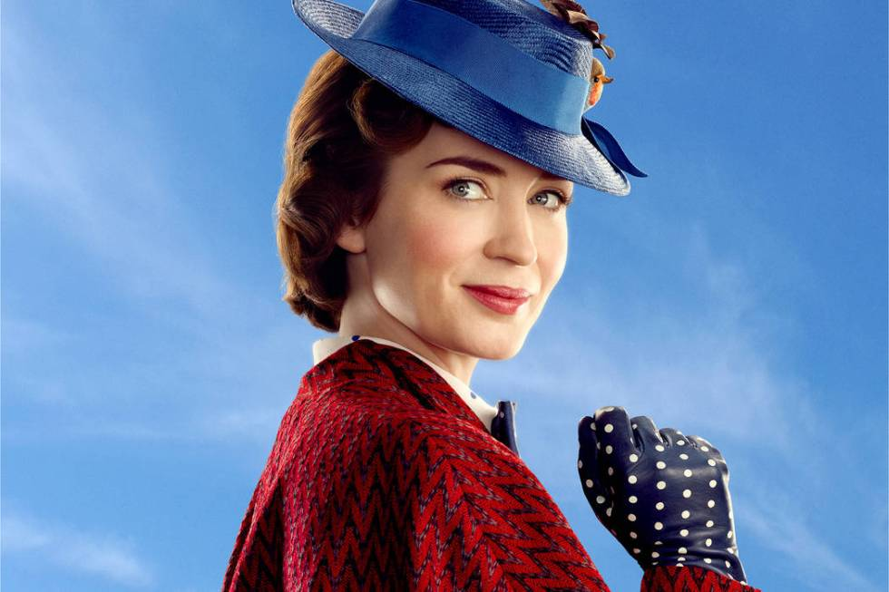 Mary Poppins (Emily Blunt) in Disney's original musical MARY POPPINS RETURNS, a sequel to the 1 ...