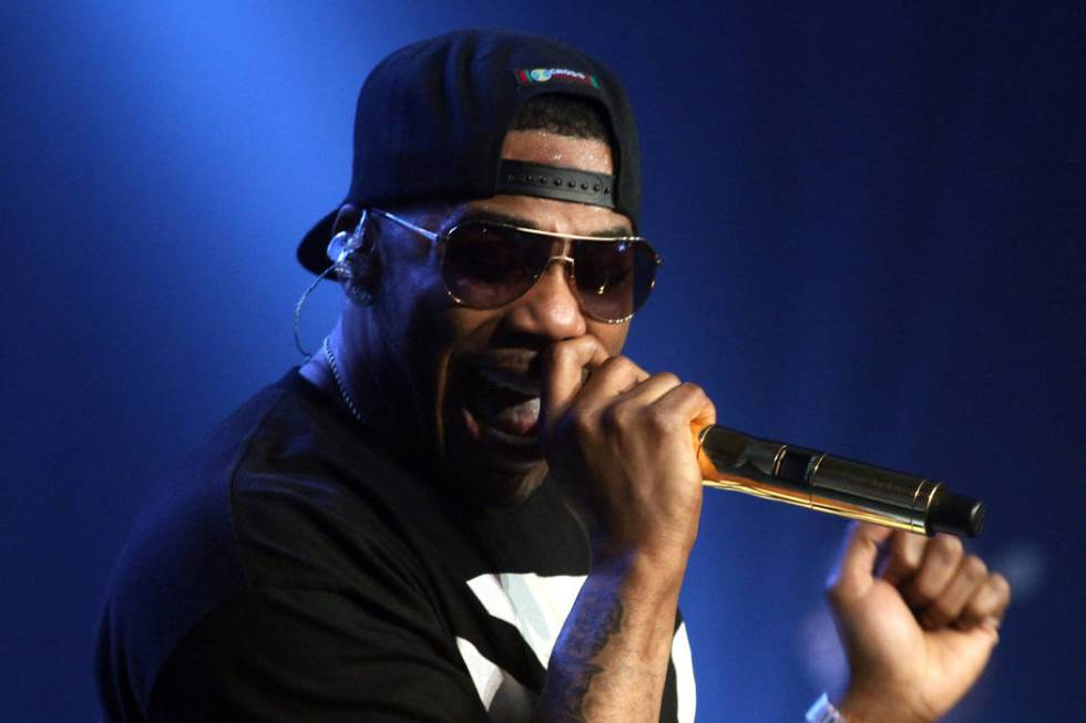 Nelly performs at EA SPORTS Madden Bowl 2015, Jan., 29, 2015, in Phoenix. (Donald Traill/Invisi ...