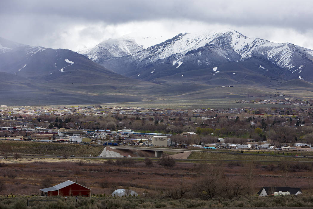 The city of Winnemucca, Nev., Tuesday, April 9, 2019. Winnemucca has a population of about 7,00 ...