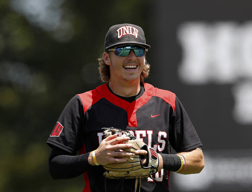 UNLV shortstop Bryson Stott, shown last month, ranked in the top 100 in 11 NCAA statistical cat ...