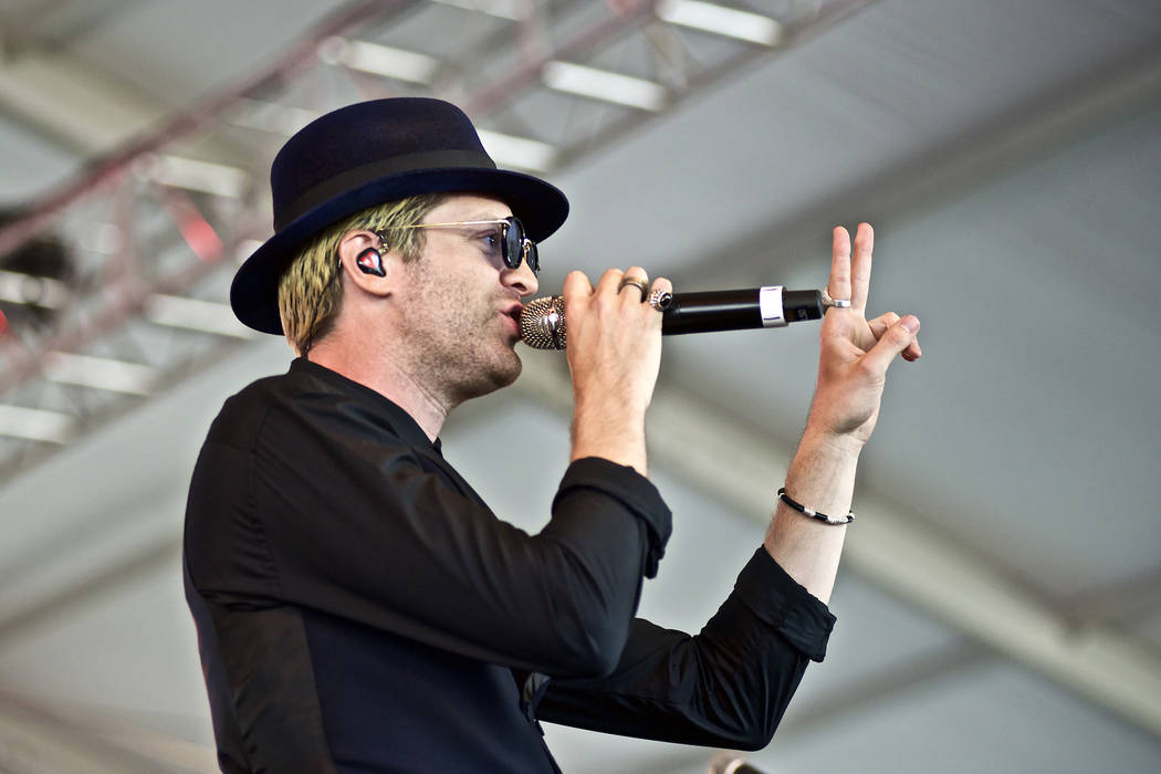 American singer songwriter producer Mayer Hawthorne performs at The Governors Ball Music Festiv ...