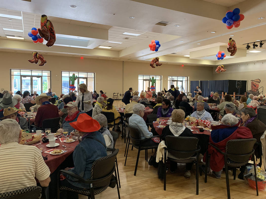 About 100 people gathered at the East Las Vegas Community Center to celebrate the annual 90-plu ...