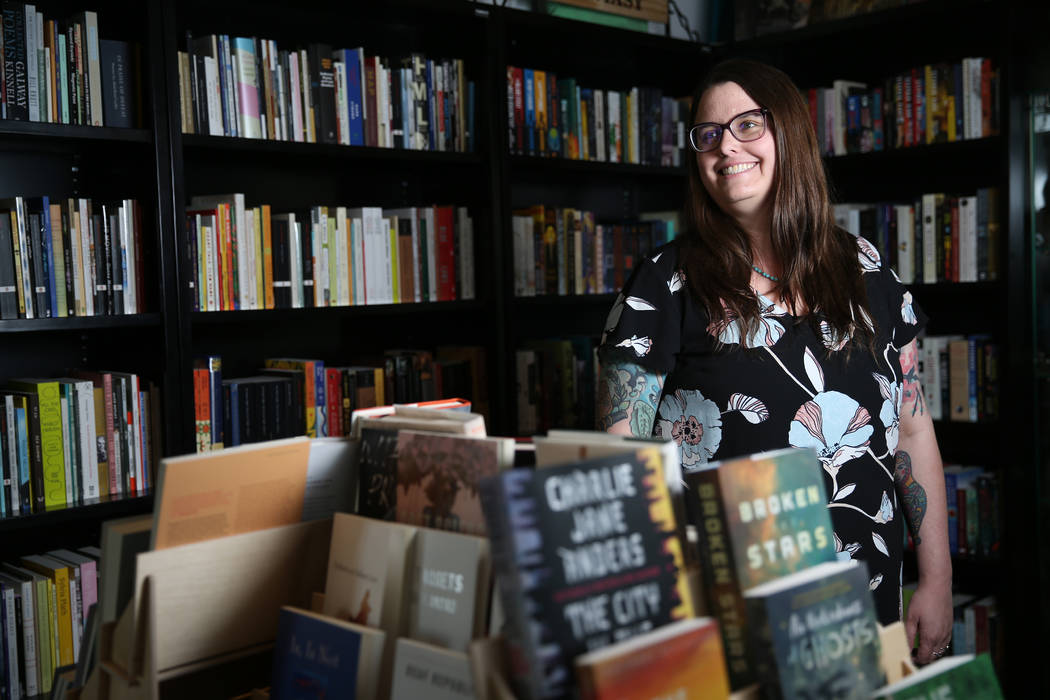 Heather Lang-Cassera, who will be Clark County's third poet laureate on June 1, poses at the Wr ...
