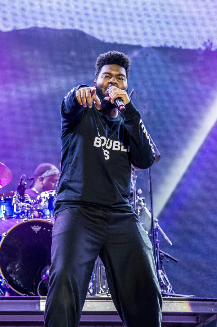 Khalid performs at the Okeechobee Music and Arts Festival on Friday, March 2, 2018, in Okeechob ...
