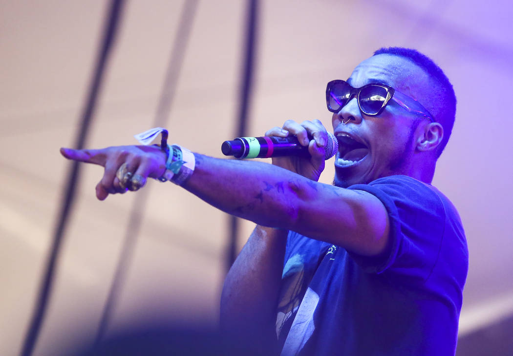 Anderson .Paak performs at the FADER FORT Presented by Converse during the South by Southwest M ...