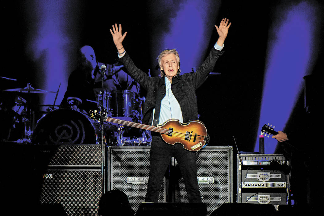 Paul McCartney performs on day one of the Austin City Limits Music Festival's second weekend on ...