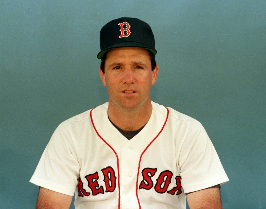 Boston Red Sox infielder Marty Barrett is shown in this Feb. 28, 1989. (AP Photo)