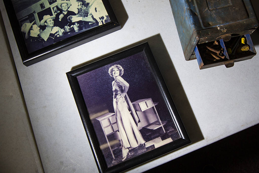 A photo of Clara Bow is seen from Walking Box Ranch, in Searchlight, at UNLV's Paradise campus ...