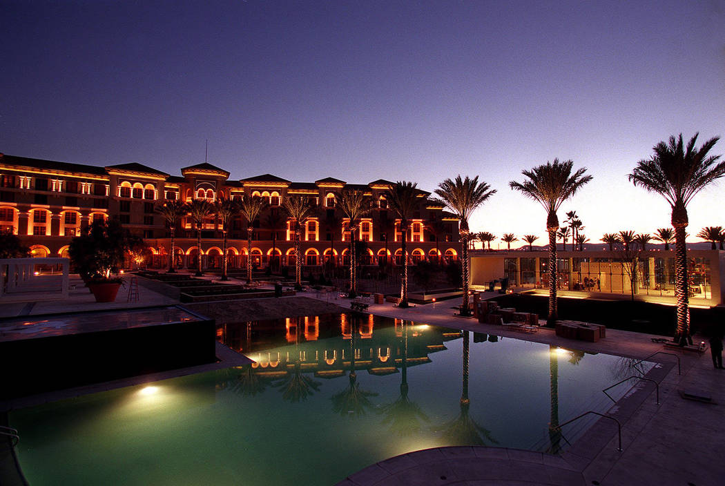 The pool area at Green Valley Ranch Resort is seen at dusk. (Las Vegas Review-Journal file)