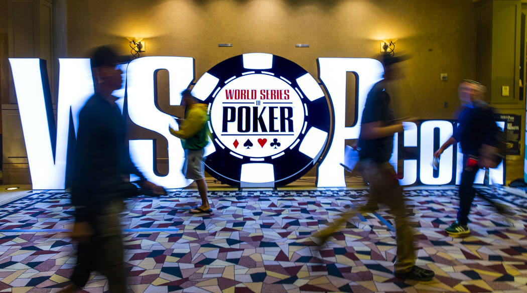 WSOP poker players compete at the $500 buy-in, no-limit Hold'em tournament dubbed The Bi ...