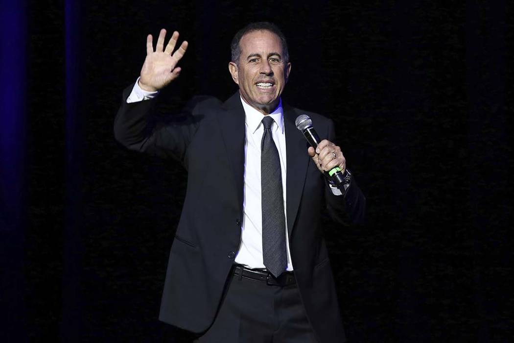 FILE - In this Nov. 1, 2016 file photo, Jerry Seinfeld performs at Stand Up For Heroes, at The ...