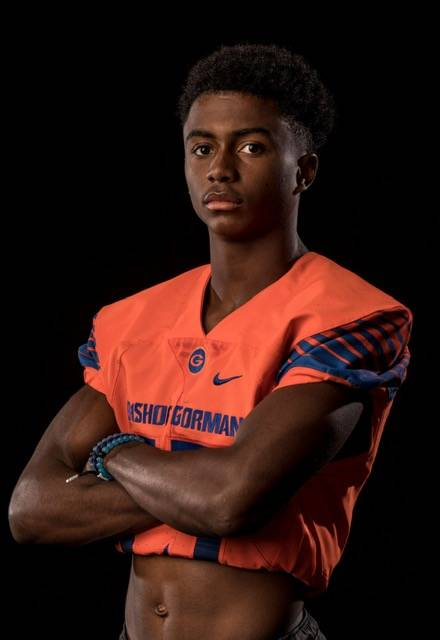 Bishop Gorman's Kyu Kelly is a member of the Nevada Preps all-state boys track team.