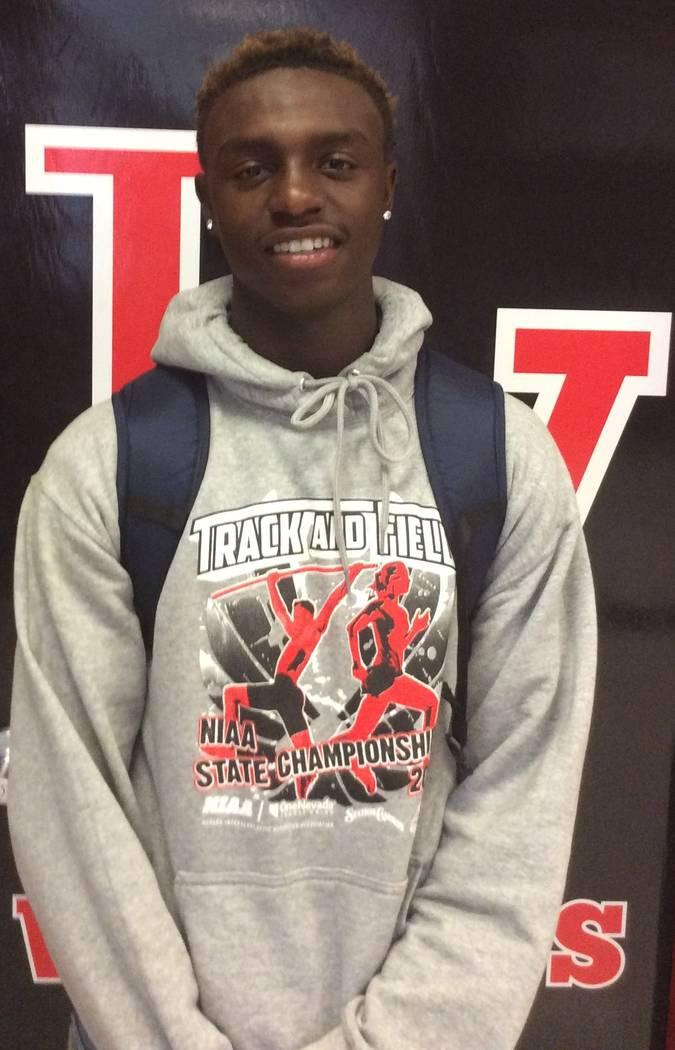 Las Vegas High's Miles Davis is a member of the Nevada Preps all-state boys track team.