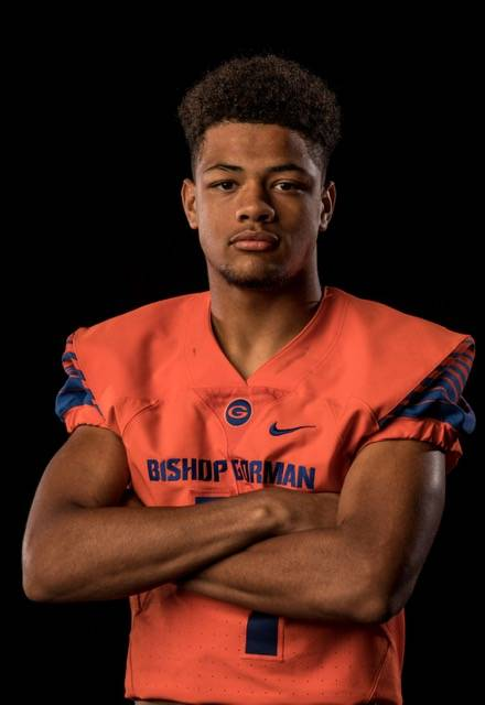 Bishop Gorman's Rome Odunze is a member of the Nevada Preps all-state boys track team.