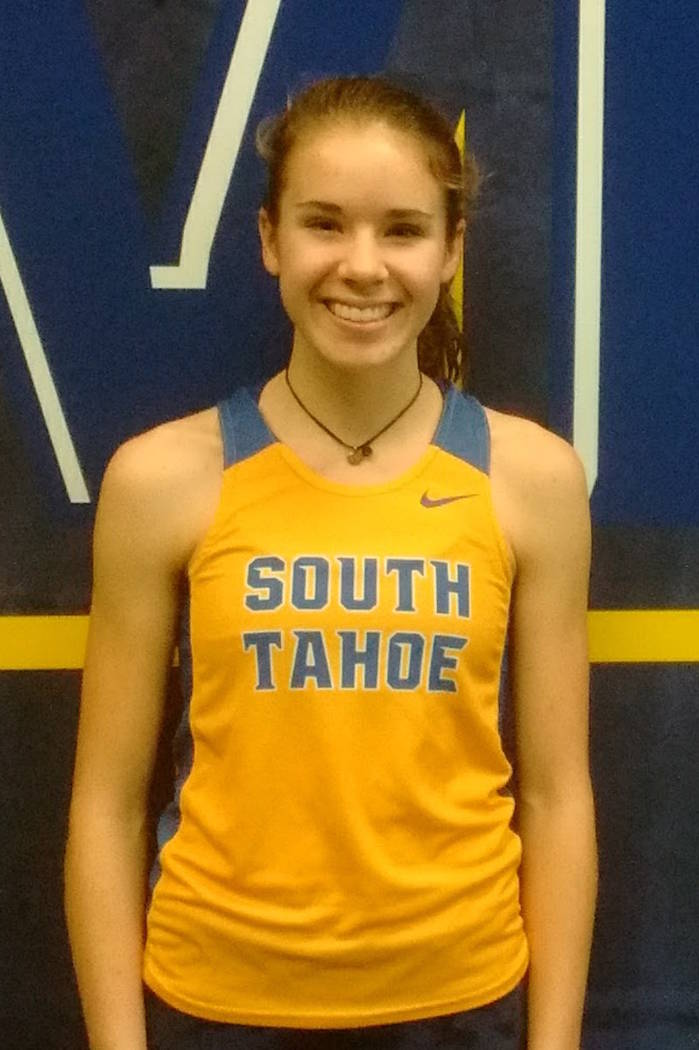 South Tahoe's Carissa Buchholz is a member of the Nevada Preps all-state girls track team.