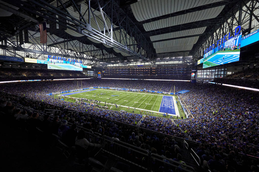 General view during an NFL football game between the Detroit Lions and Seattle Seahawks at Ford ...