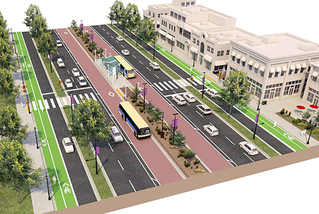 Boulder Highway is set for a revamp of a 15-mile stretch that will feature multimodal options c ...