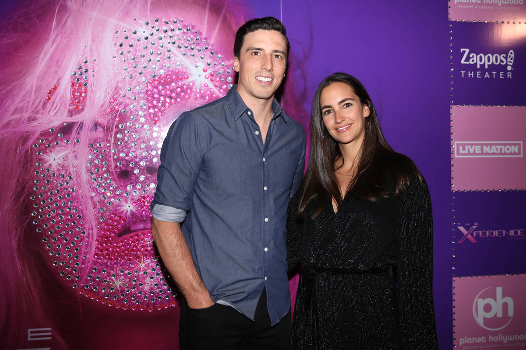 Marc-Andre Fleury, left, with his wife Veronique, on the red carpet for the grand opening of Ch ...