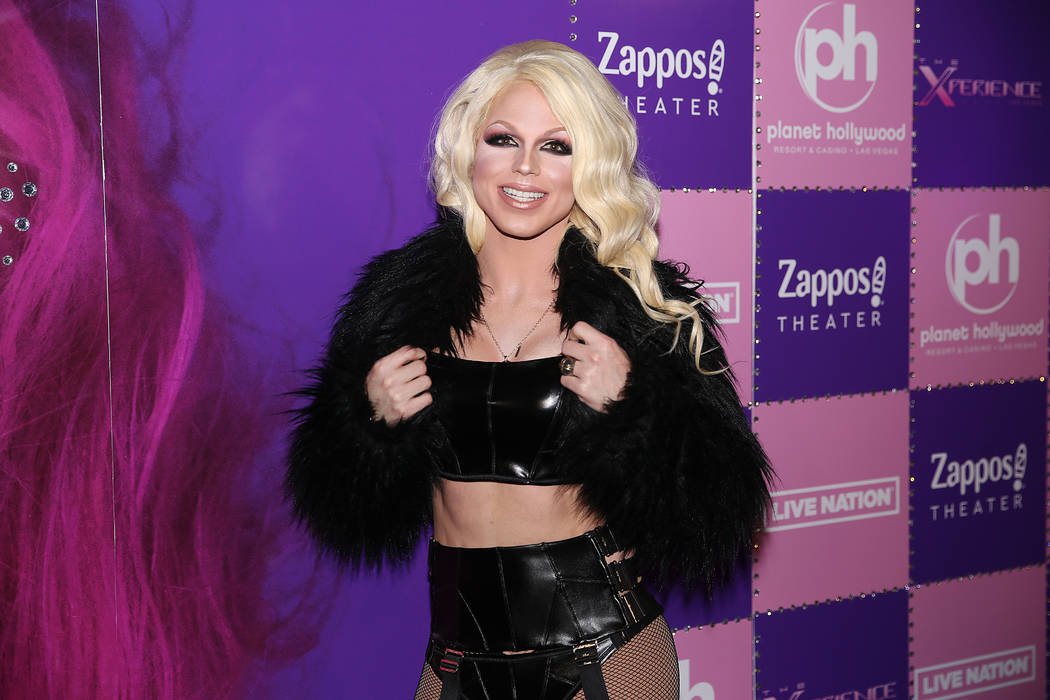 Derrick Barry, a Britney Spears impersonator, on the red carpet for the grand opening of Christ ...