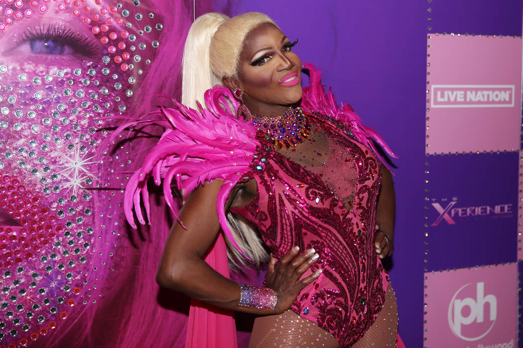 Coco Montrese on the red carpet for the grand opening of Christina Aguilera at Planet Hollywood ...