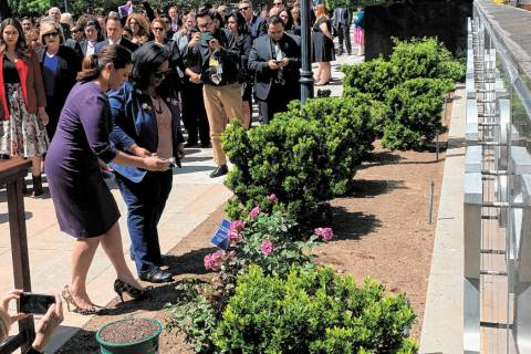 Nevada lawmakers paid tribute Saturday to Assemblyman Tyrone Thompson of Las Vegas in a ceremon ...