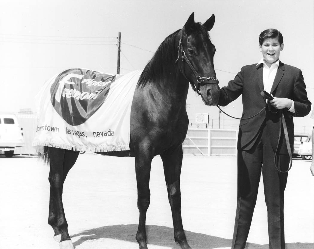 Wayne Newton with his horse in 1963. (courtesy)