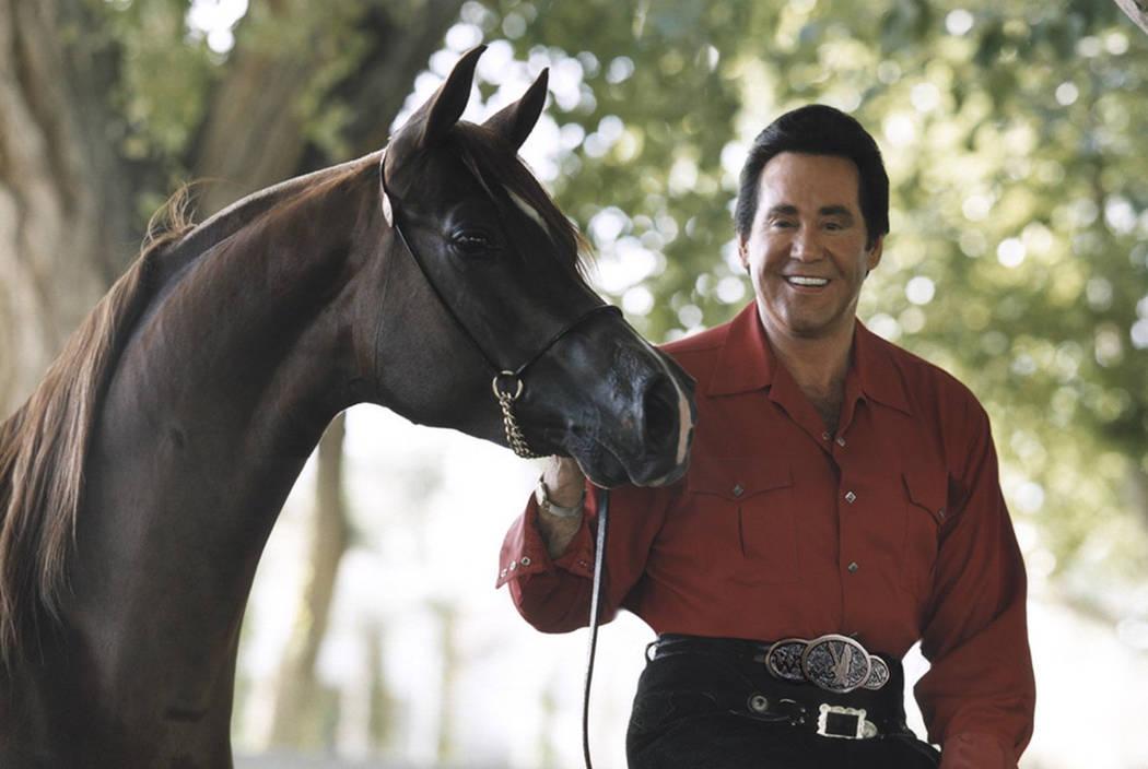Wayne Newton with his horse. (Courtesy)