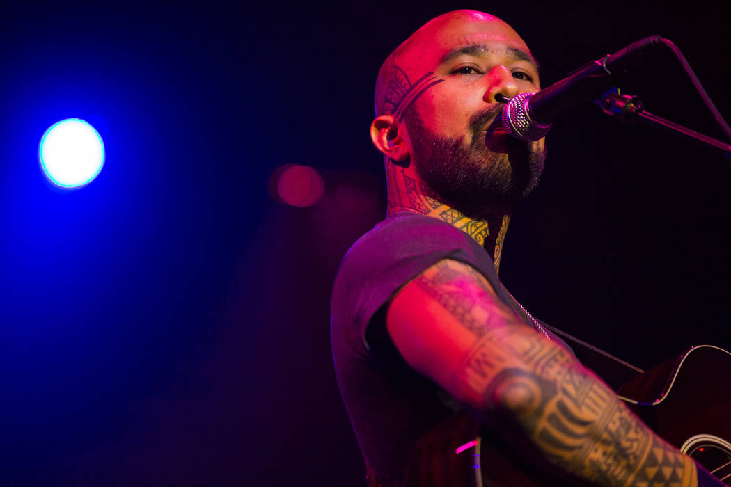 Nahko performs inside The Joint during the first day of the Emerge Impact + Music conference at ...