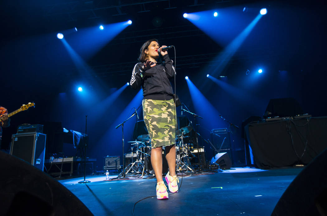 Ana Tijoux performs inside The Joint during the first day of the Emerge Impact + Music conferen ...
