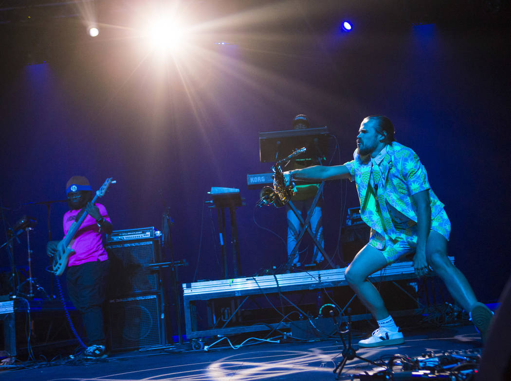Members of Tank and the Bangas perform inside The Joint during the first day of the Emerge Impa ...