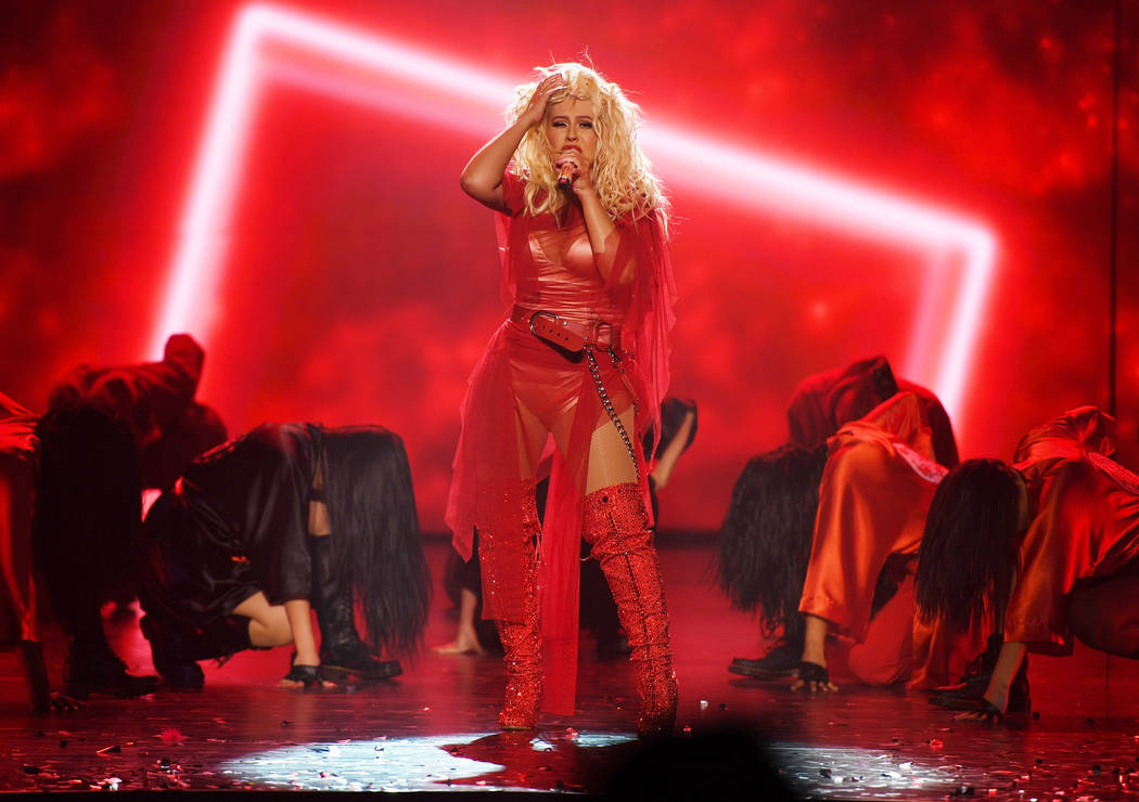 Christina Aguilera performs at the grand opening of her new Las Vegas show: THE XPERIENCE at Pl ...