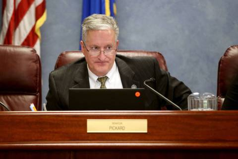 Sen. Keith Pickard, R-Henderson, during a Health and Human Services Committee meeting in the Le ...