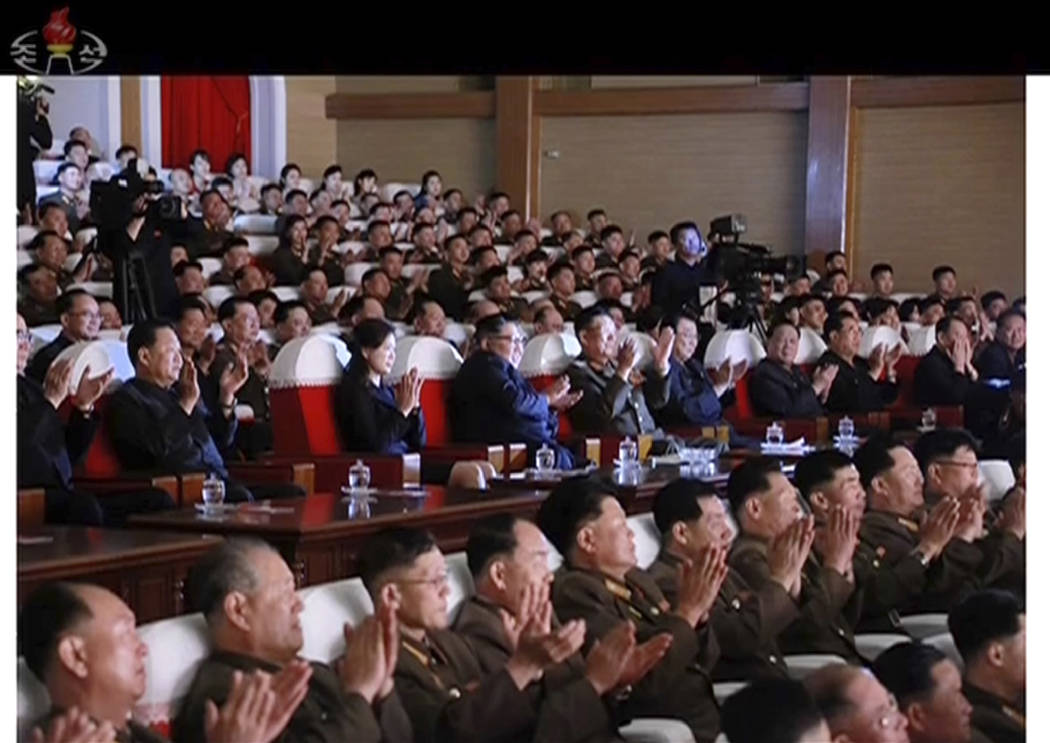 This image made from video of a still image broadcasted Monday, June 3, 2019, by North Korea's ...