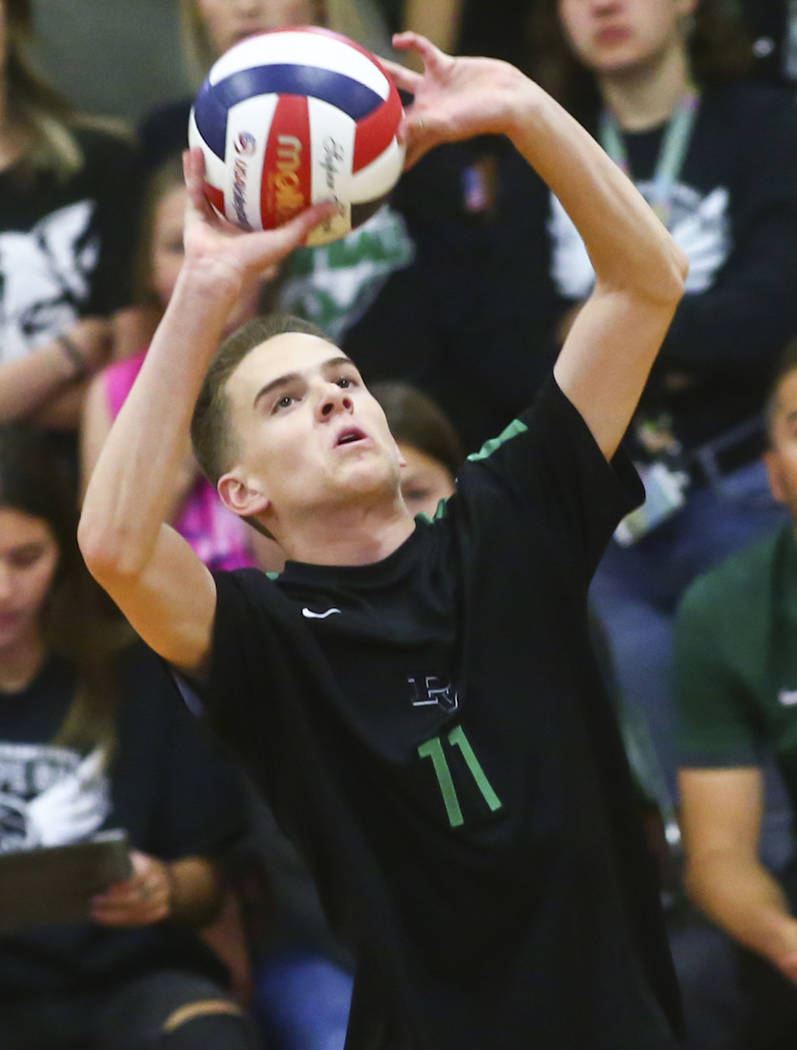 Palo Verde's Cooper Jarman is a member of the Nevada Preps all-state boys volleyball team. (Cha ...