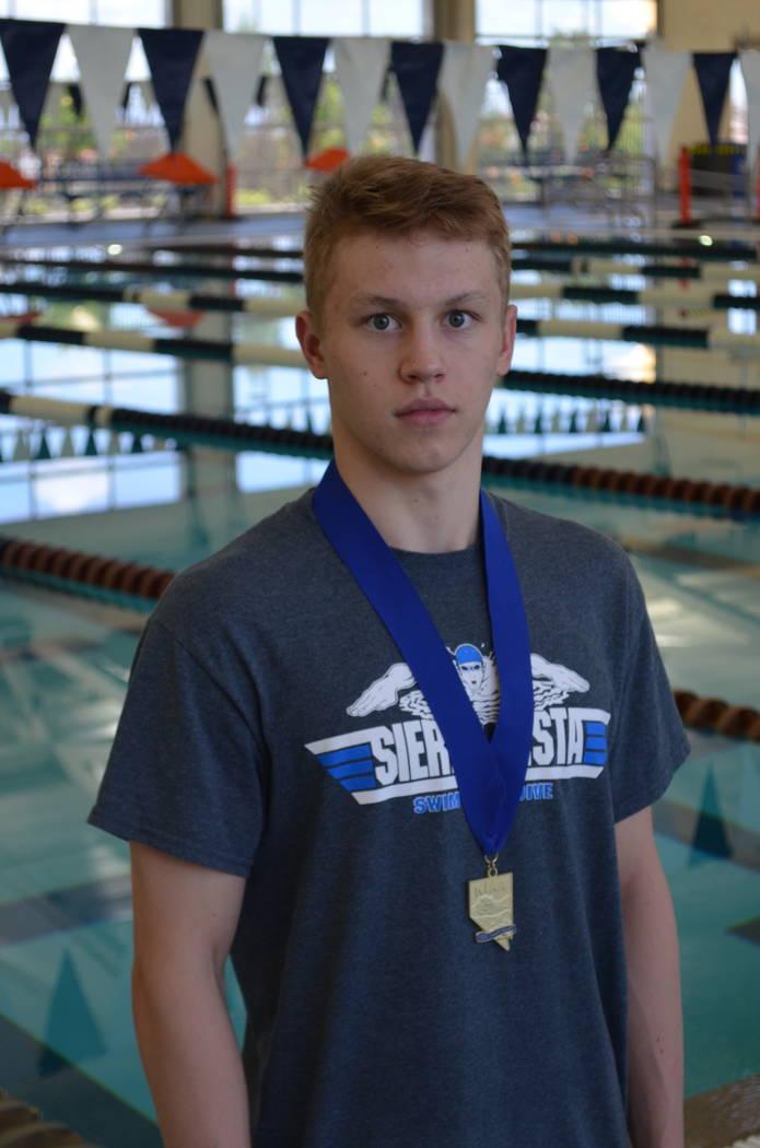 Sierra Vista's Nikita Nazarov is a member of the Nevada Preps all-state boys swimming team.