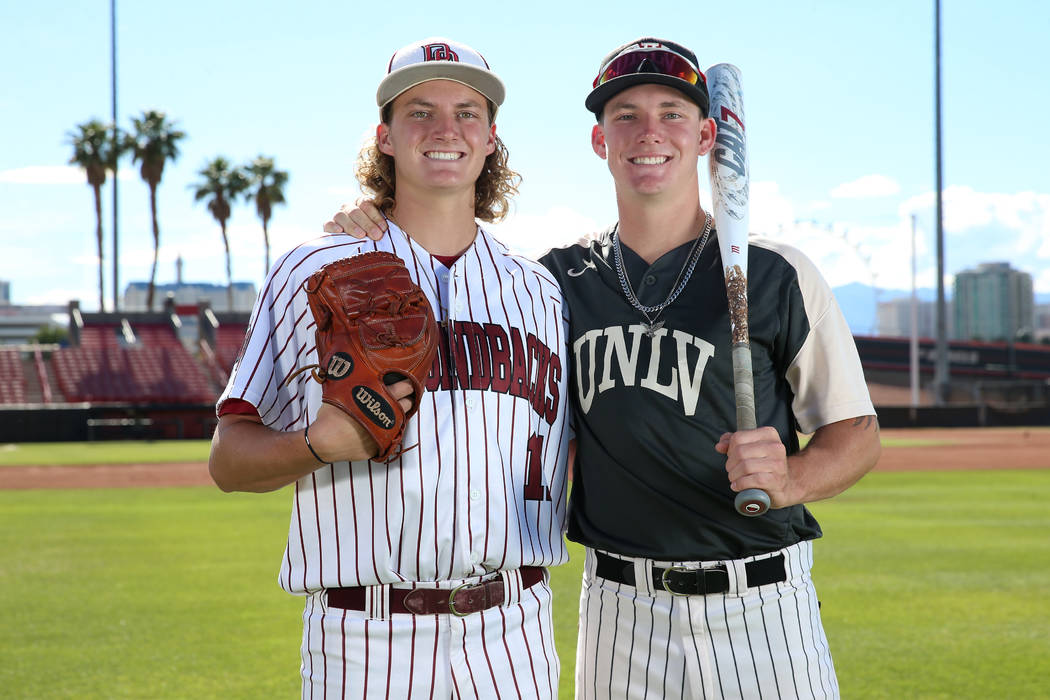 John Sharman, left, 17, and his brother Jason, 19, at UNLV's Earl E. Wilson Stadium in Las Vega ...