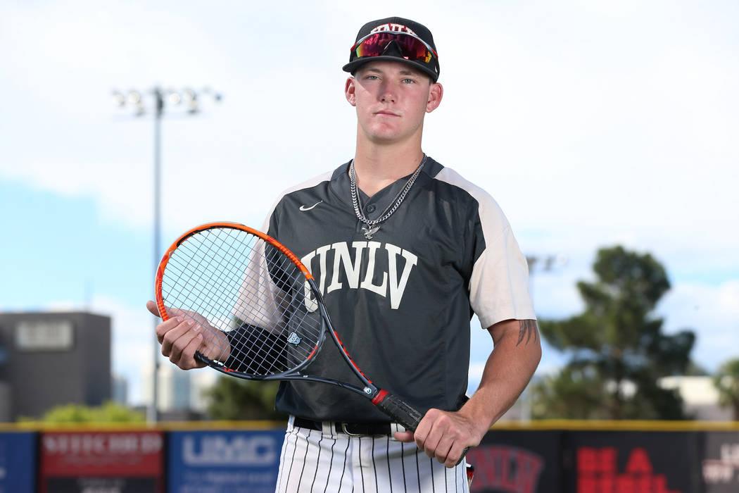 Jason Sharman, 19, at UNLV's Earl E. Wilson Stadium in Las Vegas, Wednesday, May 29, 2019. Jaso ...