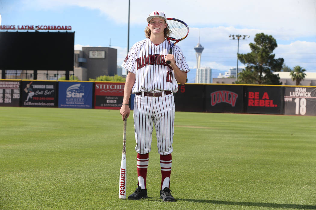 Josh Sharman, 17, at UNLV's Earl E. Wilson Stadium in Las Vegas, Wednesday, May 29, 2019. Josh ...