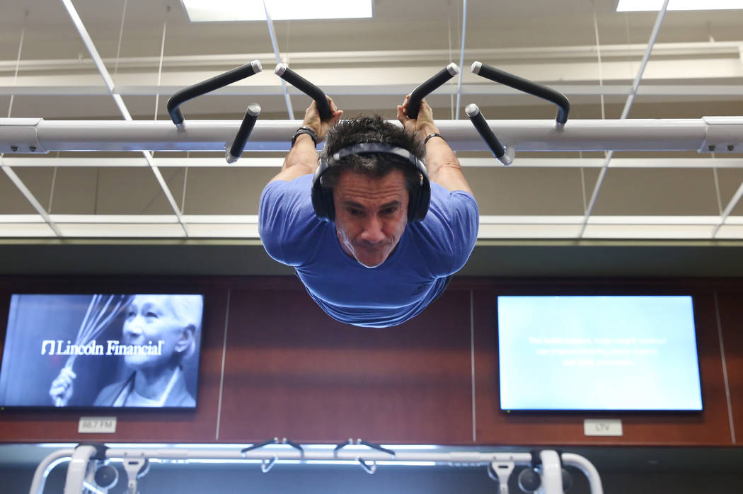 Peter Radu of Henderson works out at Lifetime Athletic on Monday, June, 3 2019, in Henderson. ( ...