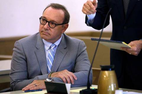 Actor Kevin Spacey attends a pretrial hearing on Monday, June 3, 2019, at district court in Nan ...